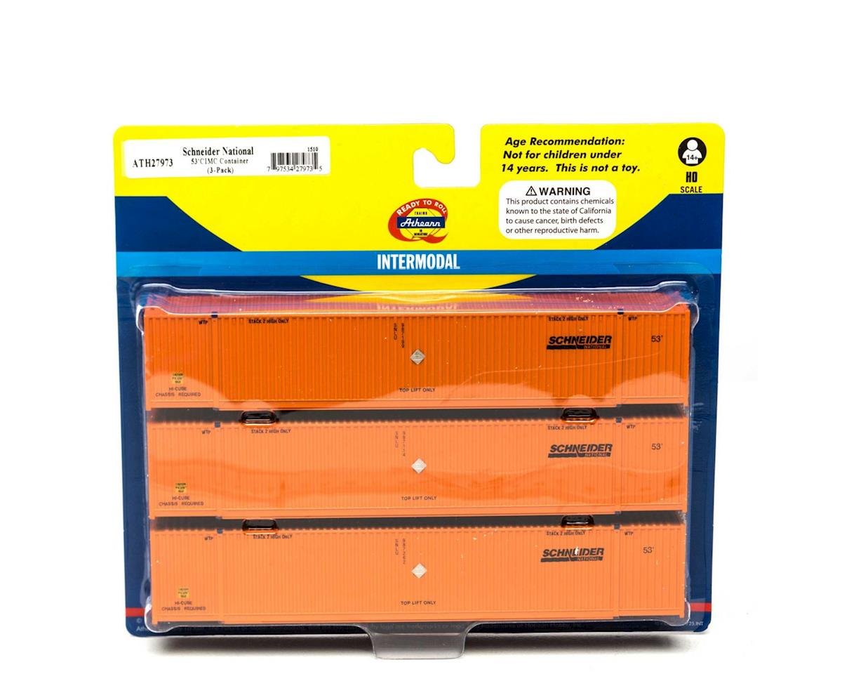 Athearn HO RTR 53' CIMC Container, Schneider (3)