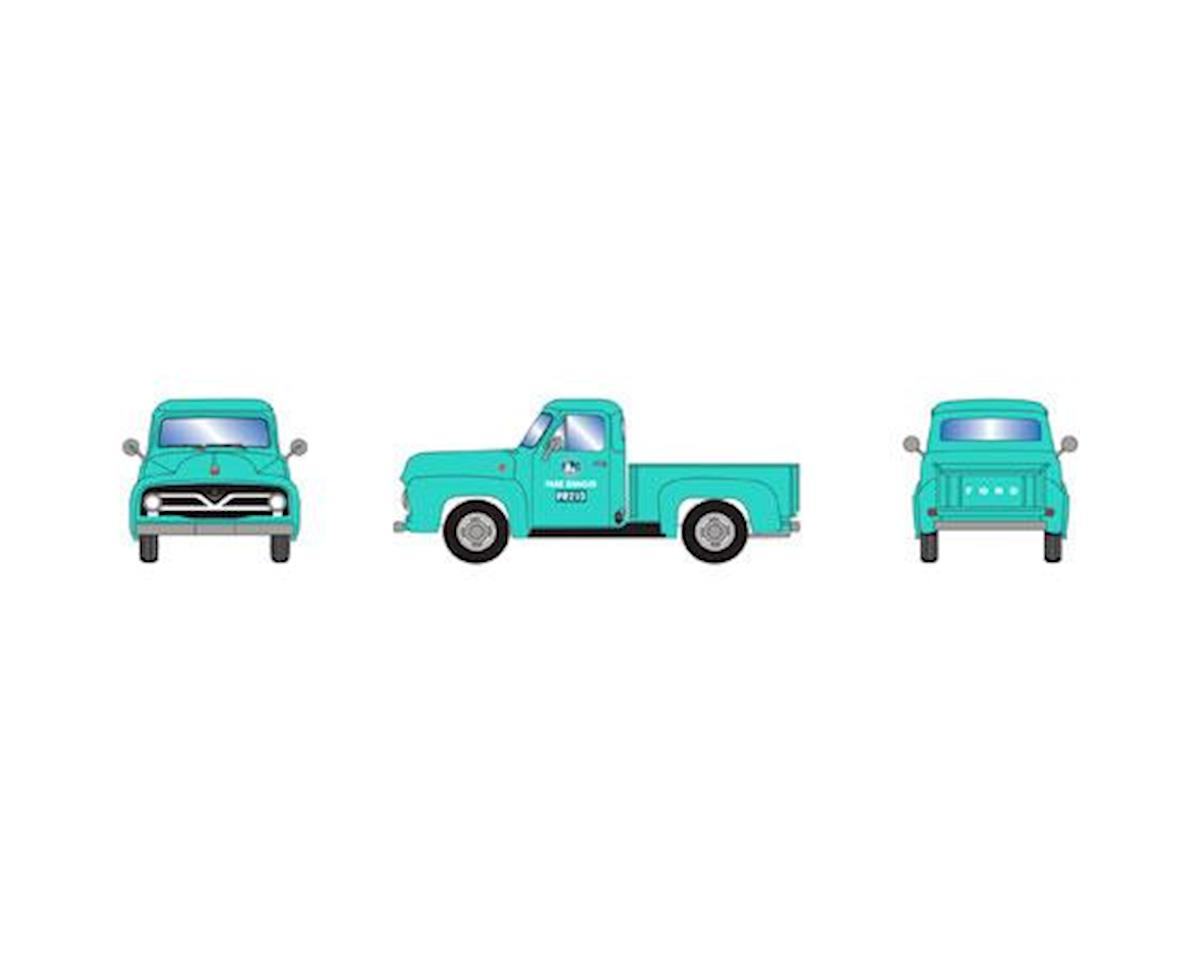 Athearn HO RTR 1955 Ford F-100 Pickup, Green /Park Ranger