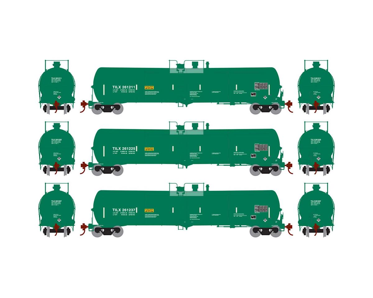 Athearn HO RTR 30,000 Gal Ethanol Tank, TILX/Green #1 (3)