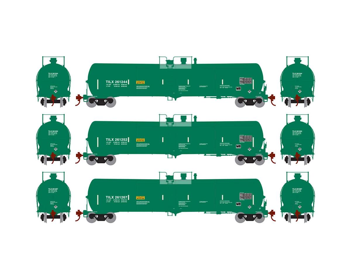 Athearn HO RTR 30,000 Gal Ethanol Tank, TILX/Green #2 (3)