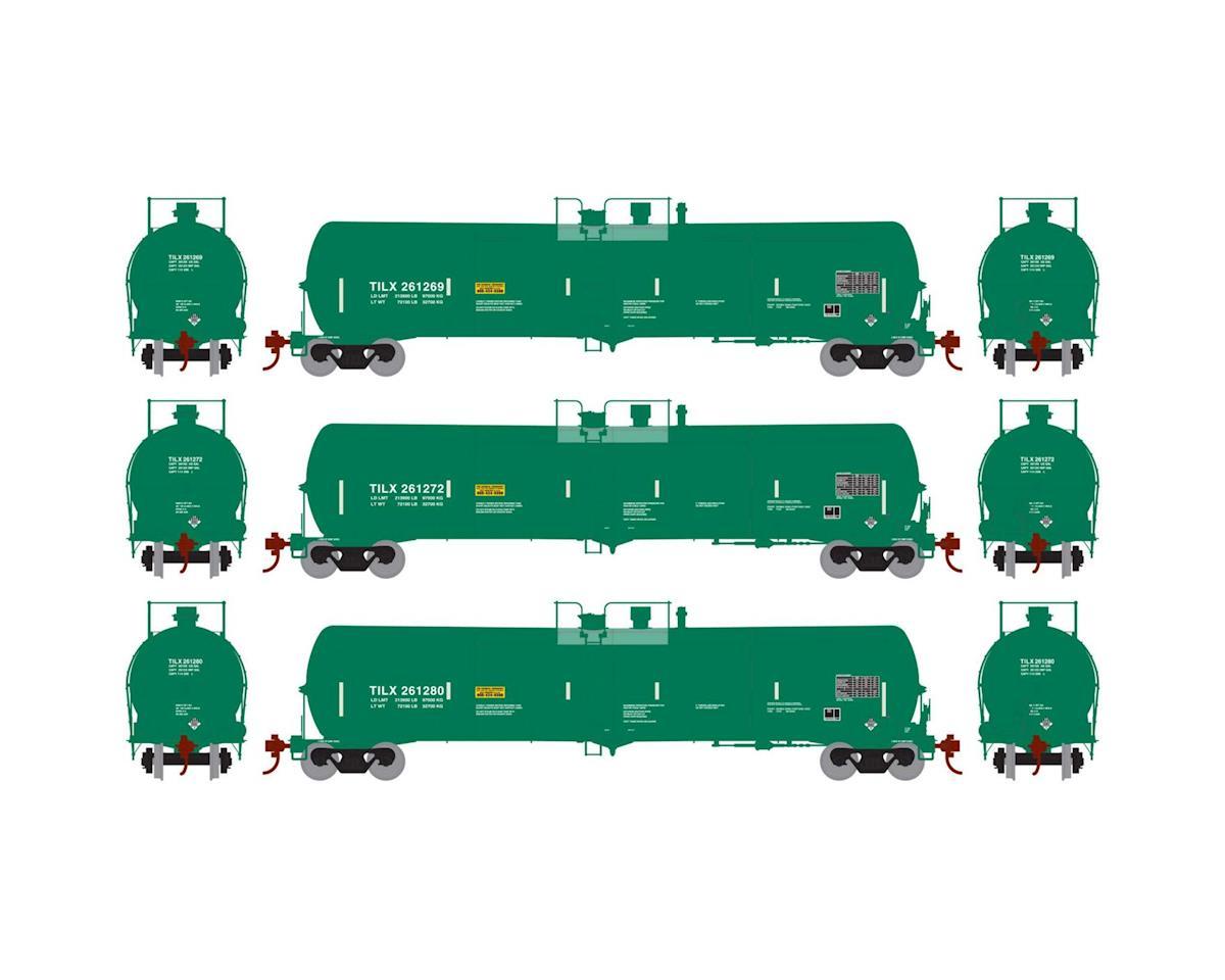 Athearn HO RTR 30,000 Gal Ethanol Tank, TILX/Green #3 (3)
