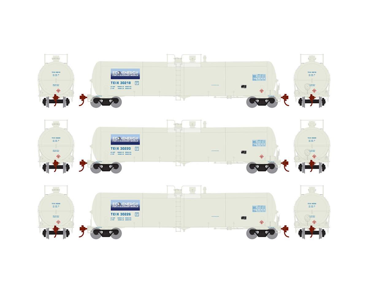Athearn HO RTR 30,000 Gal Ethanol Tank, TEIX/White #2 (3)