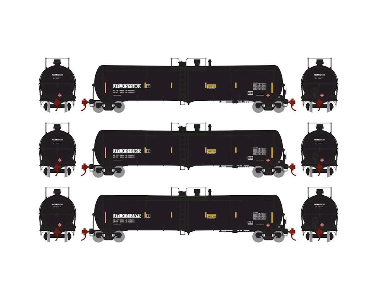 Athearn HO RTR 30,000 Gal Ethanol Tank, UTLX/Black #1 (3)