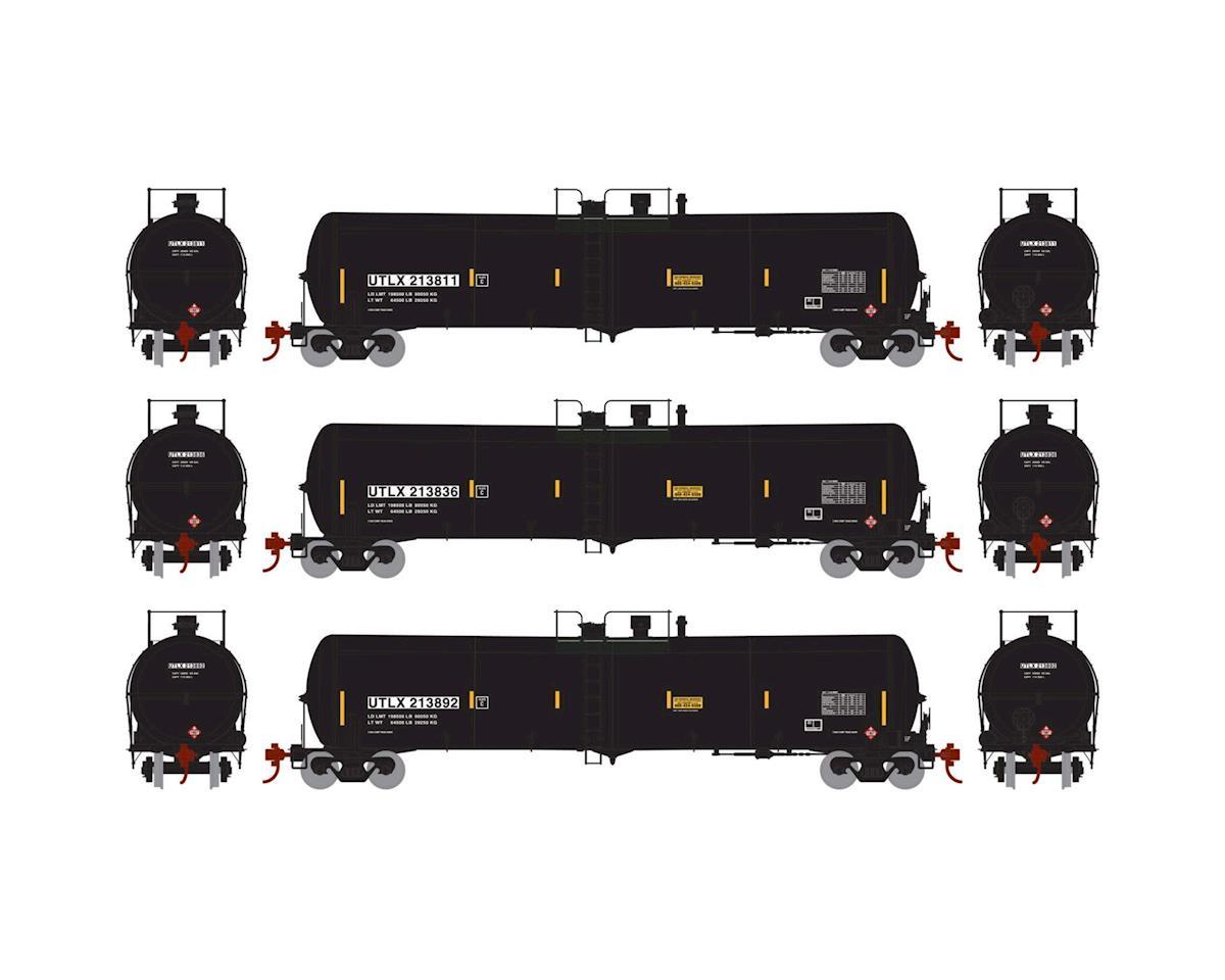 Athearn HO RTR 30,000 Gal Ethanol Tank, UTLX/Black #2 (3)