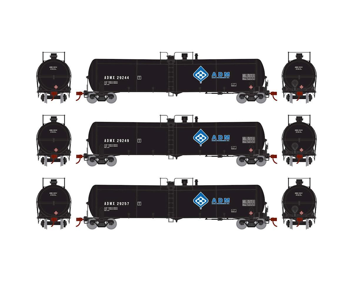 Athearn HO RTR 30,000 Gallon Ethanol Tank, ADM #1 (3)
