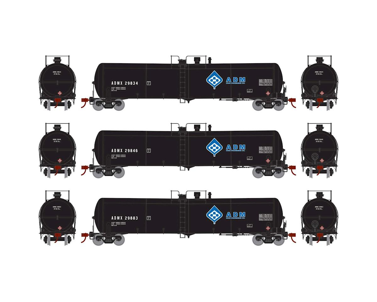 Athearn HO RTR 30,000 Gallon Ethanol Tank, ADM #3 (3)