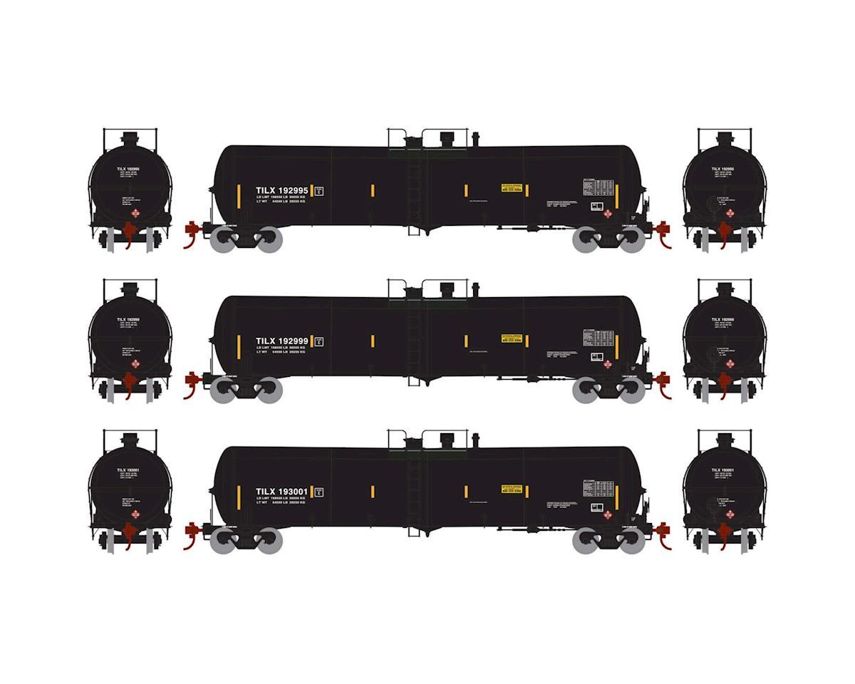 Athearn HO RTR 30,000 Gal Ethanol Tank, TILX/Black #1 (3)