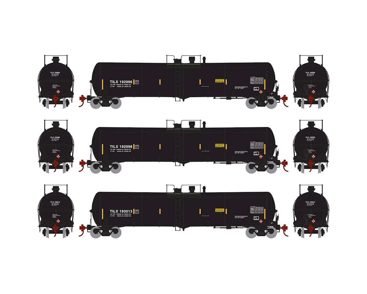 Athearn HO RTR 30,000 Gal Ethanol Tank, TILX/Black #2 (3)