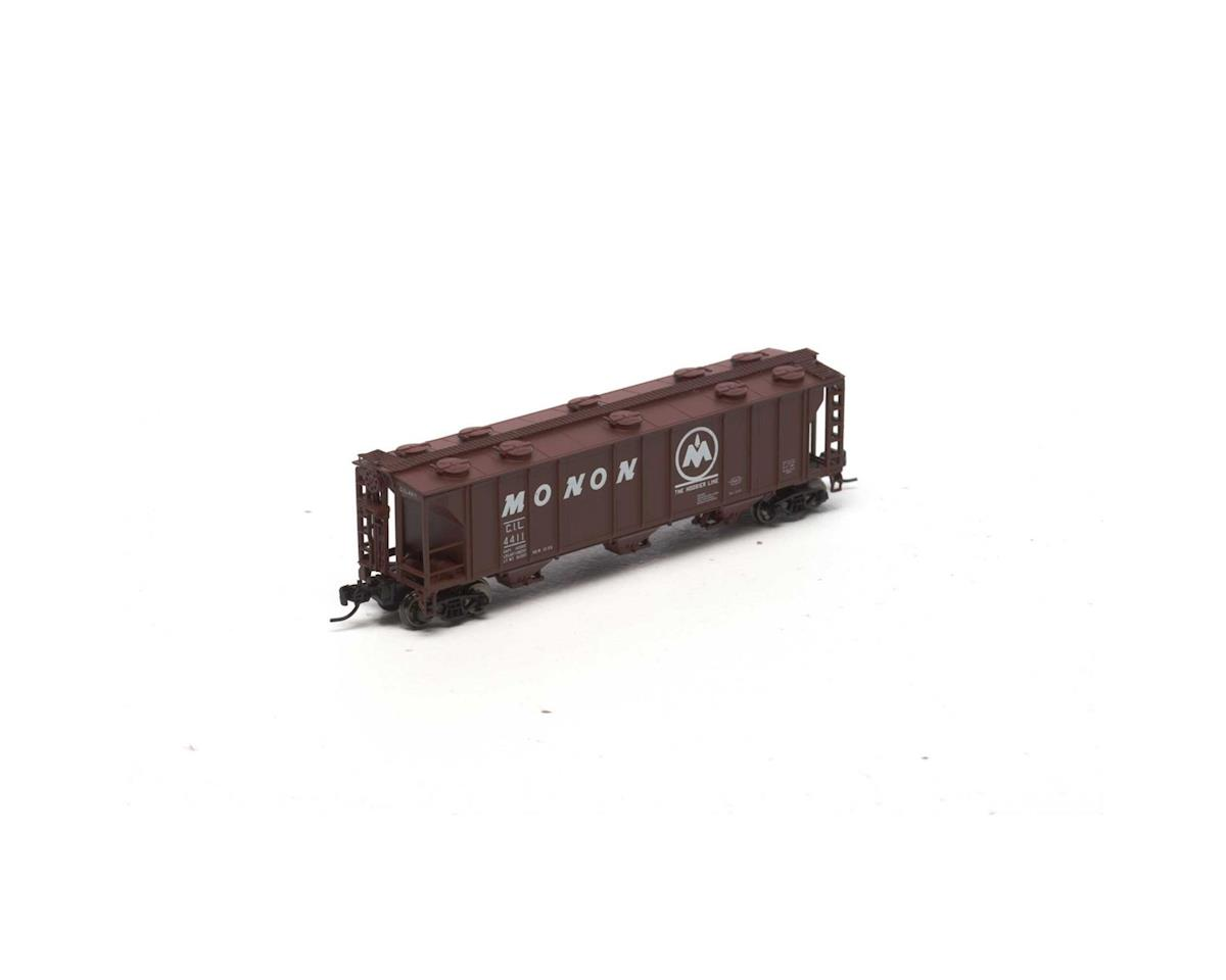 Athearn N PS-2 2893 3-Bay Covered Hopper, Monon #4411