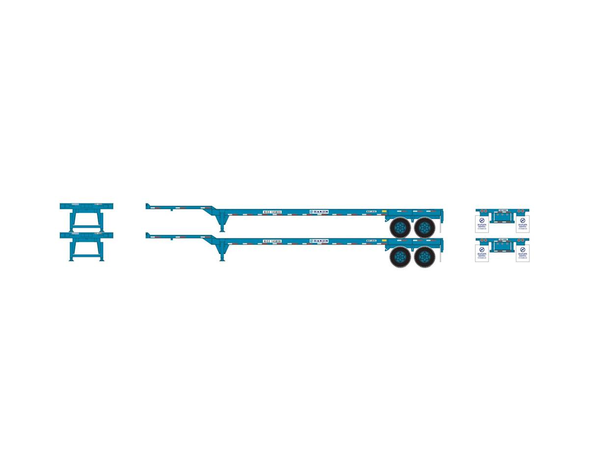 Athearn HO RTR 45' Container Chassis, Hanjin (2)