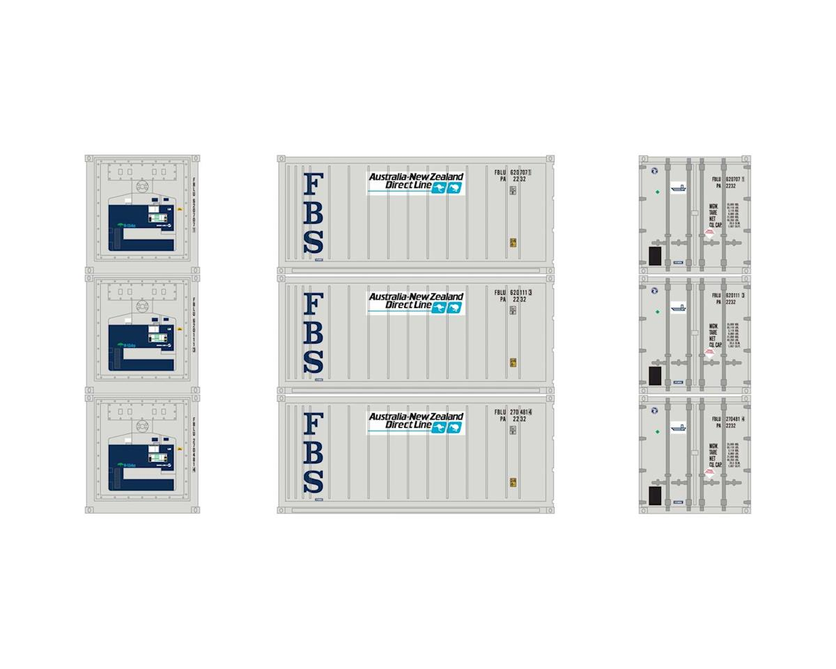Athearn HO RTR 20' Reefer Container, ANZ (3)