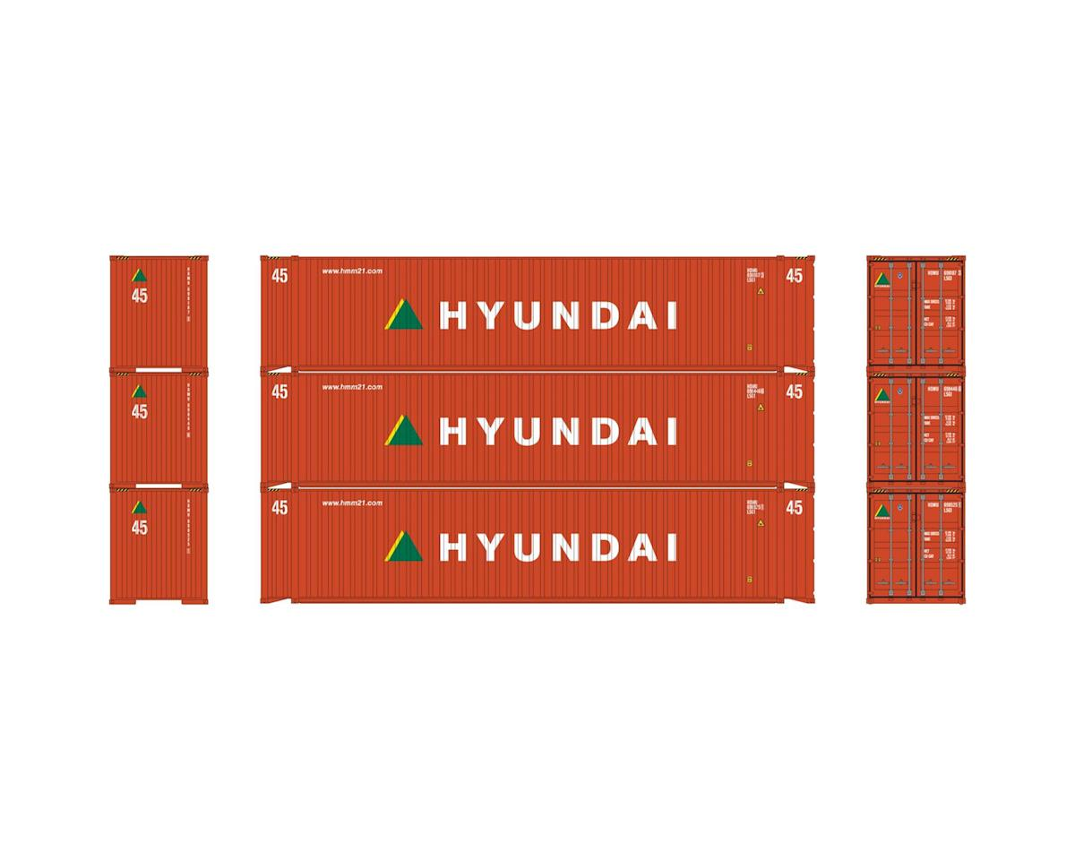 Athearn HO RTR 45' Container, Hyundai (3)