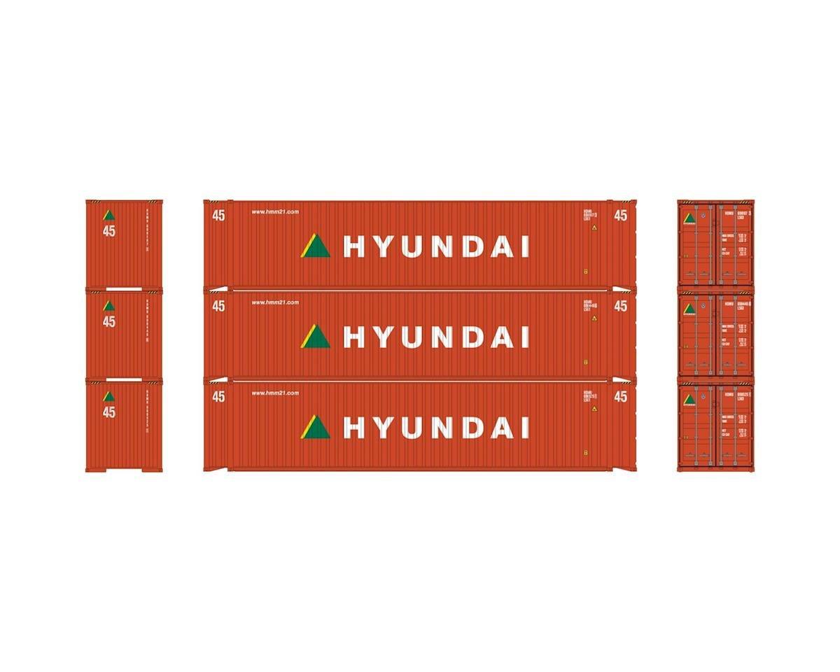 Athearn HO RTR 45' Container, Hyundai (3)
