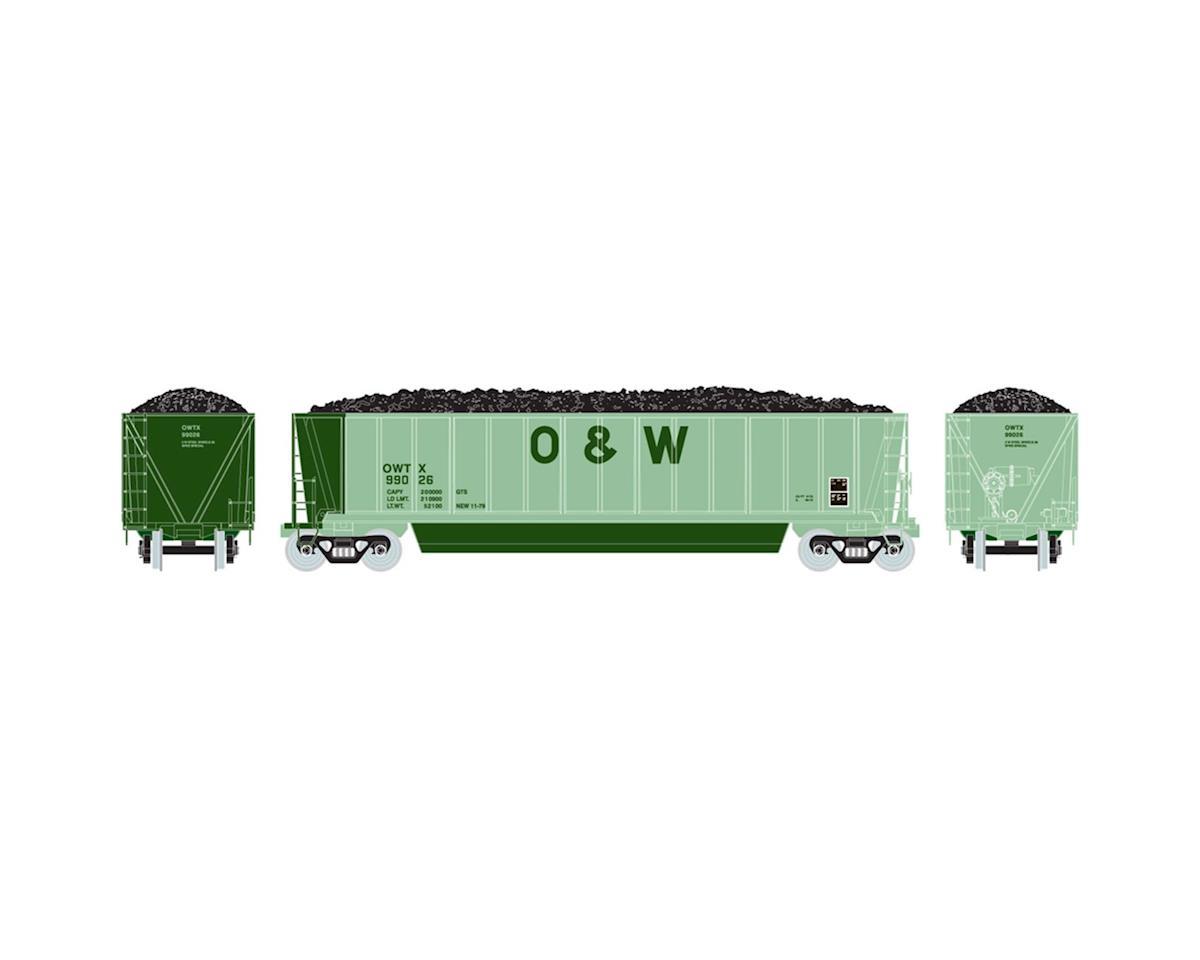 Athearn HO RTR Bathtub Gondola w/Coal Load, O&W #99026