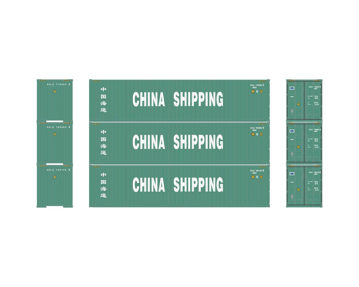 Athearn HO RTR 40' Corrugated Container, China Ship #1 (3)