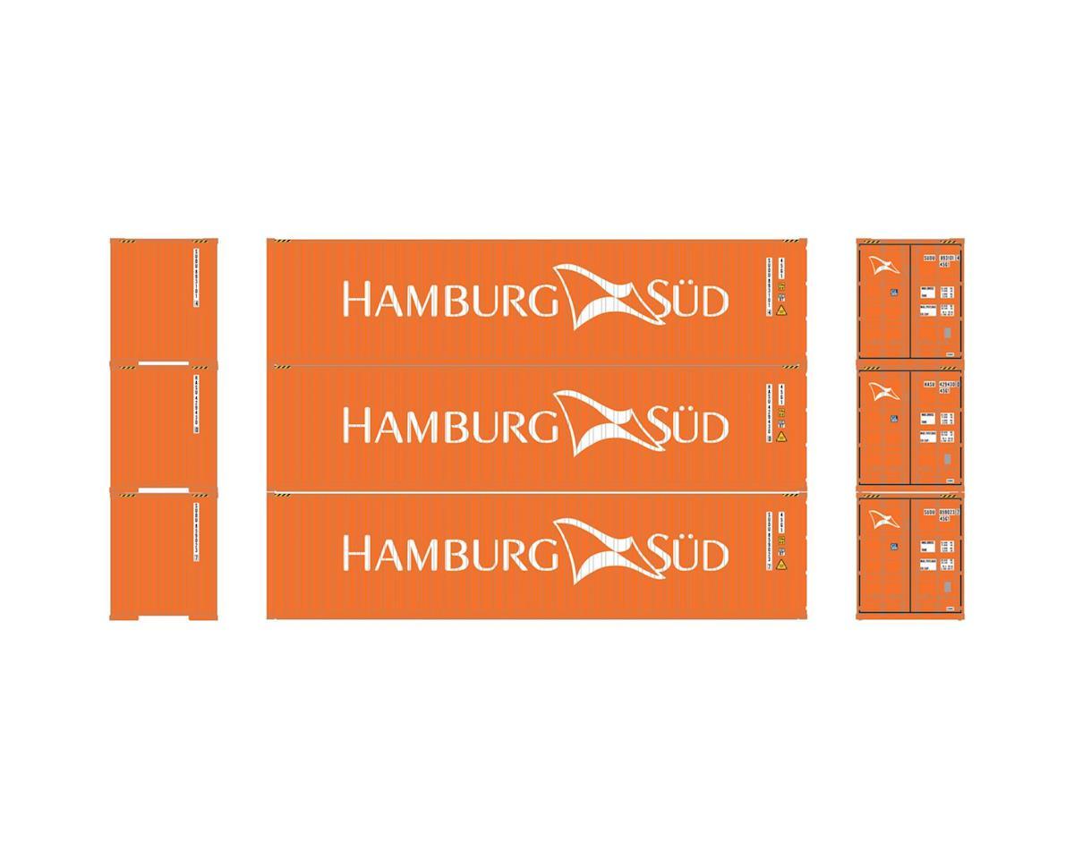 Athearn HO RTR 40' Corrugated Containers,Hamburg Sud #1(3)