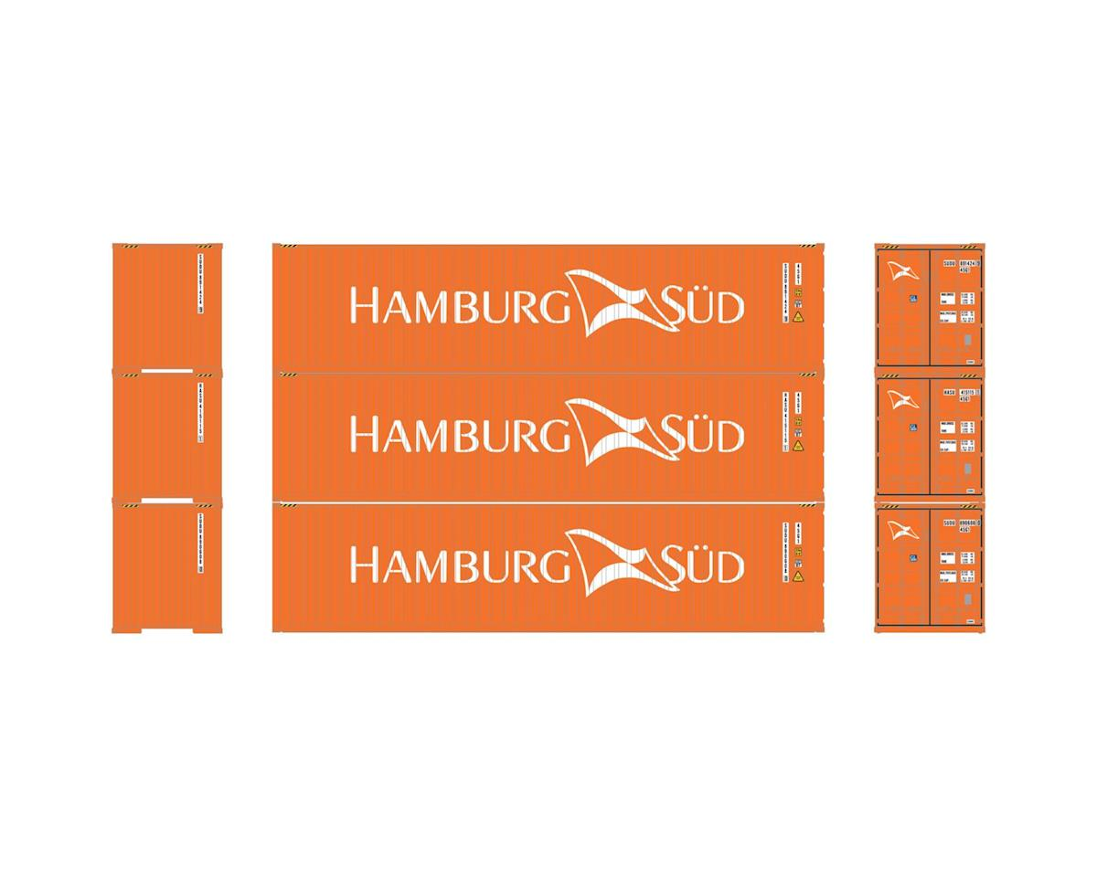 Athearn HO RTR 40' Corrugated Containers,Hamburg Sud #2(3)