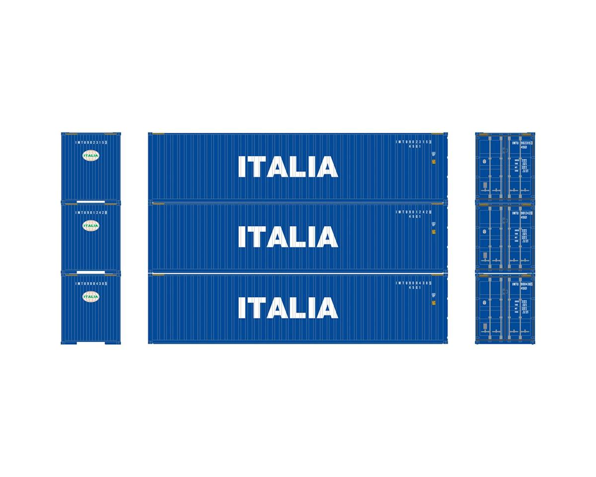 Athearn HO RTR 40' Corrugated Containers, Italia #1 (3)
