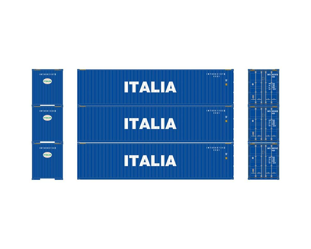 Athearn HO RTR 40' Corrugated Containers, Italia #2 (3)