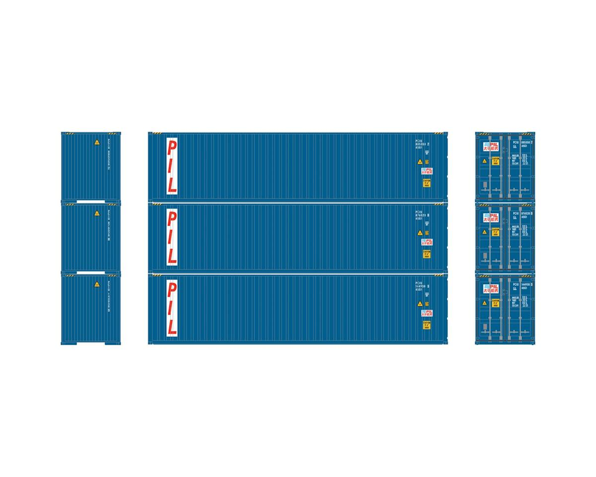 Athearn HO RTR 40' Corrugated Containers, PIL #1 (3)