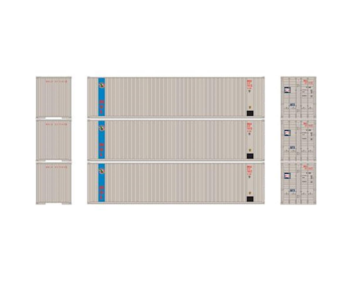 Athearn HO RTR 40' Corrugate Container w/Flat Panel,MOL(3)