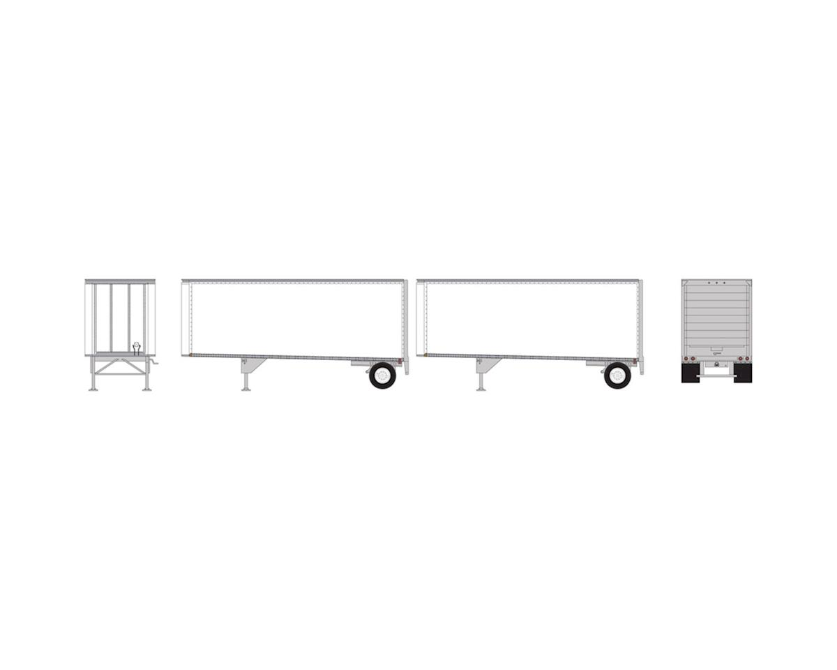 Athearn HO RTR 28' Trailers w/Dolly, Owner-Operator #1 (2)