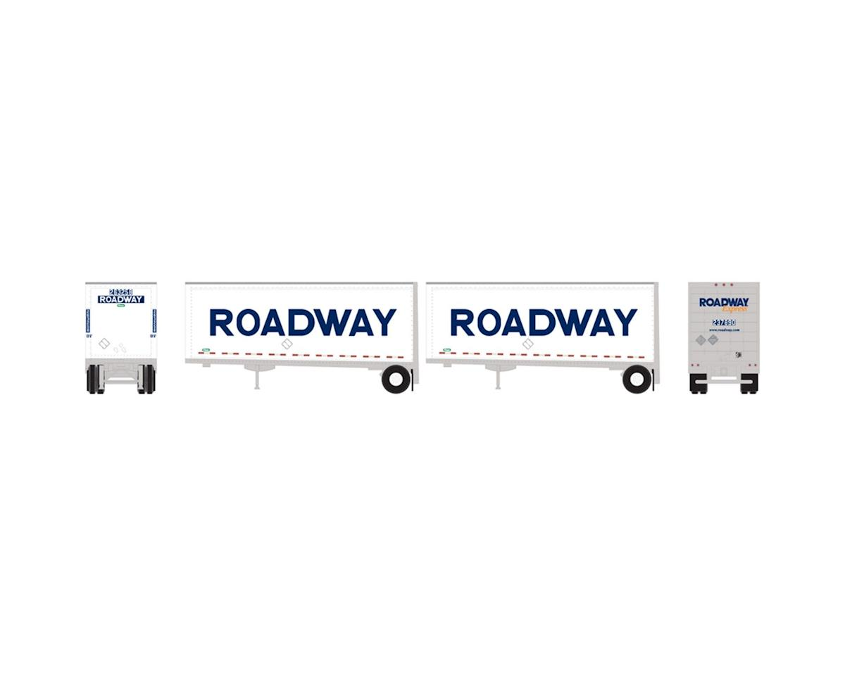 Athearn N 28' Trailers w/Dolly, Roadway/Smooth (2)