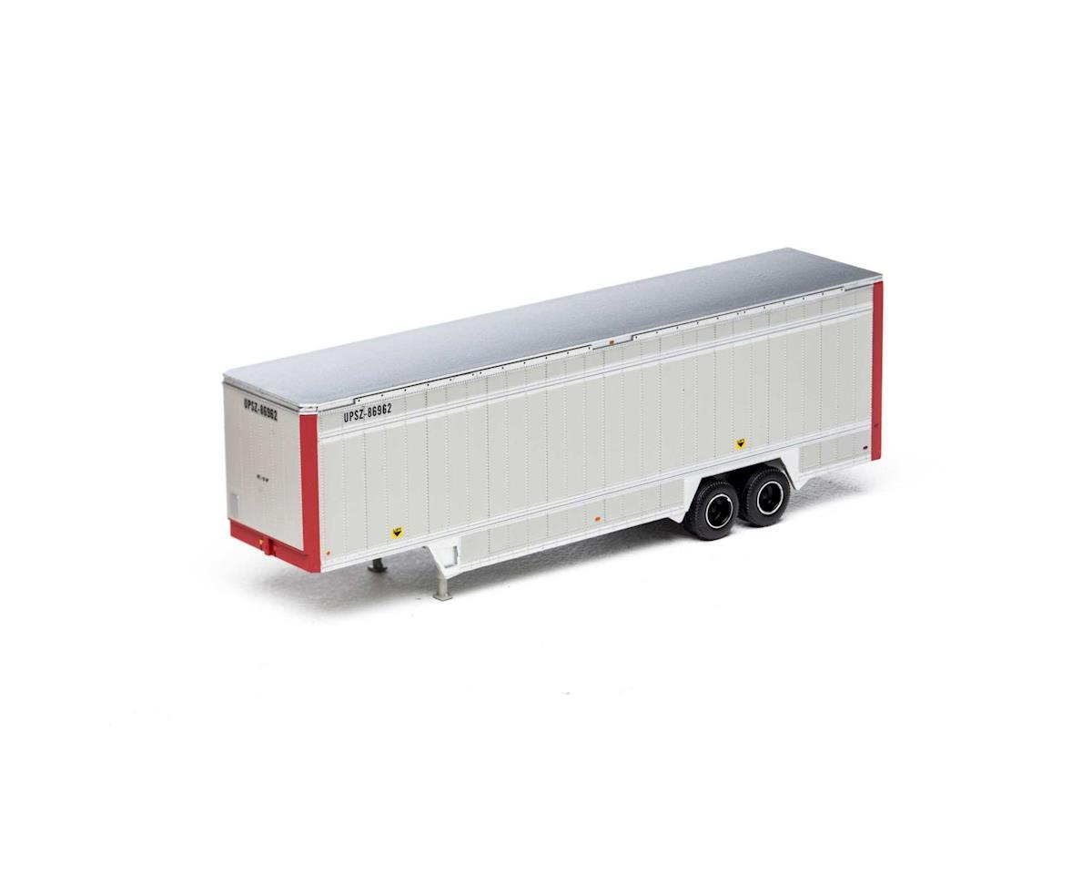 Athearn HO 40' Drop Sill Parcel Trailer,UPS/Red Ends#86962