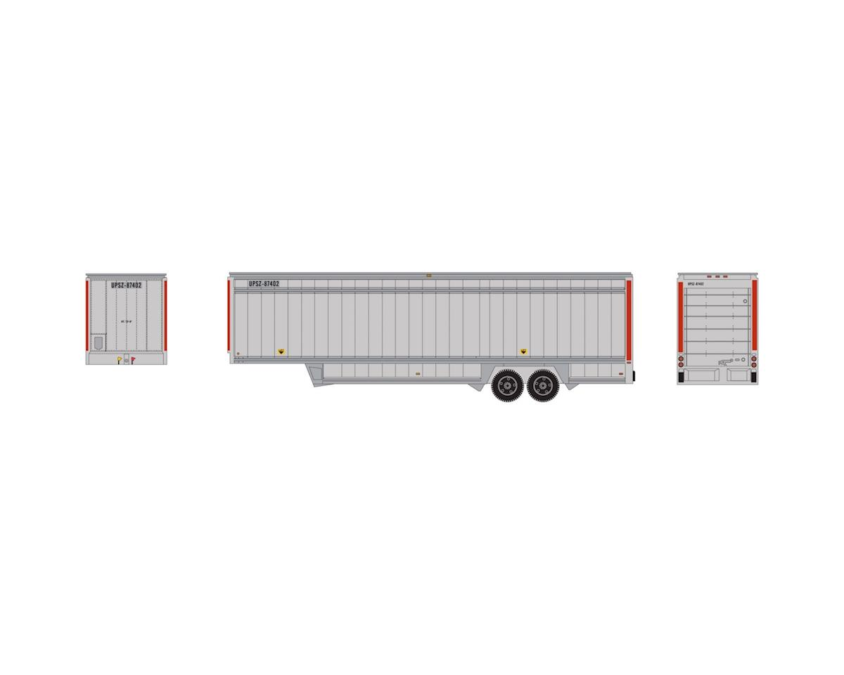 Athearn HO 40' Drop Sill Parcel Trailer, UPS/Red Stripes#2