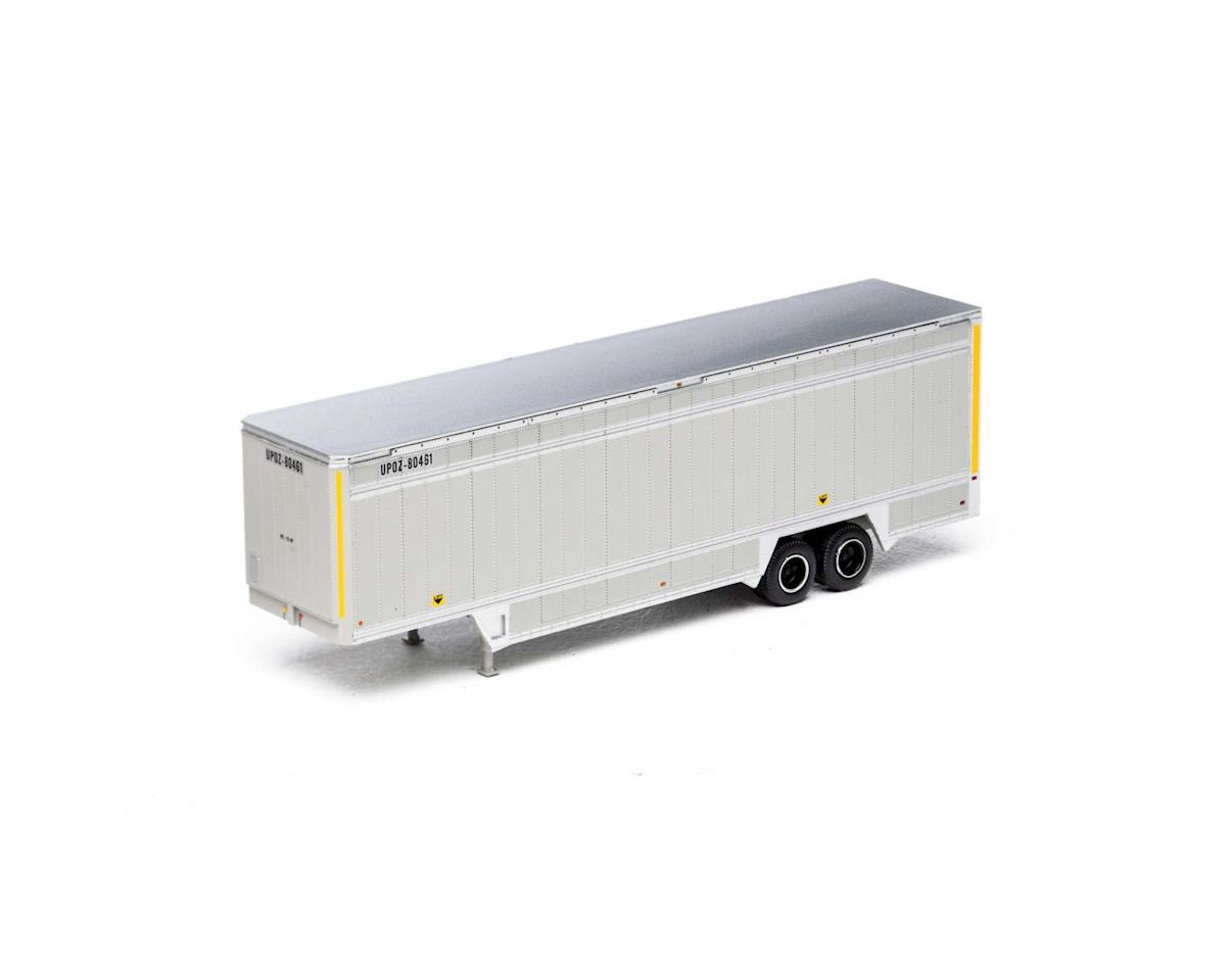 Athearn HO 40' Drop Sill Parcel Trailer,UPS/YellowStripe#1