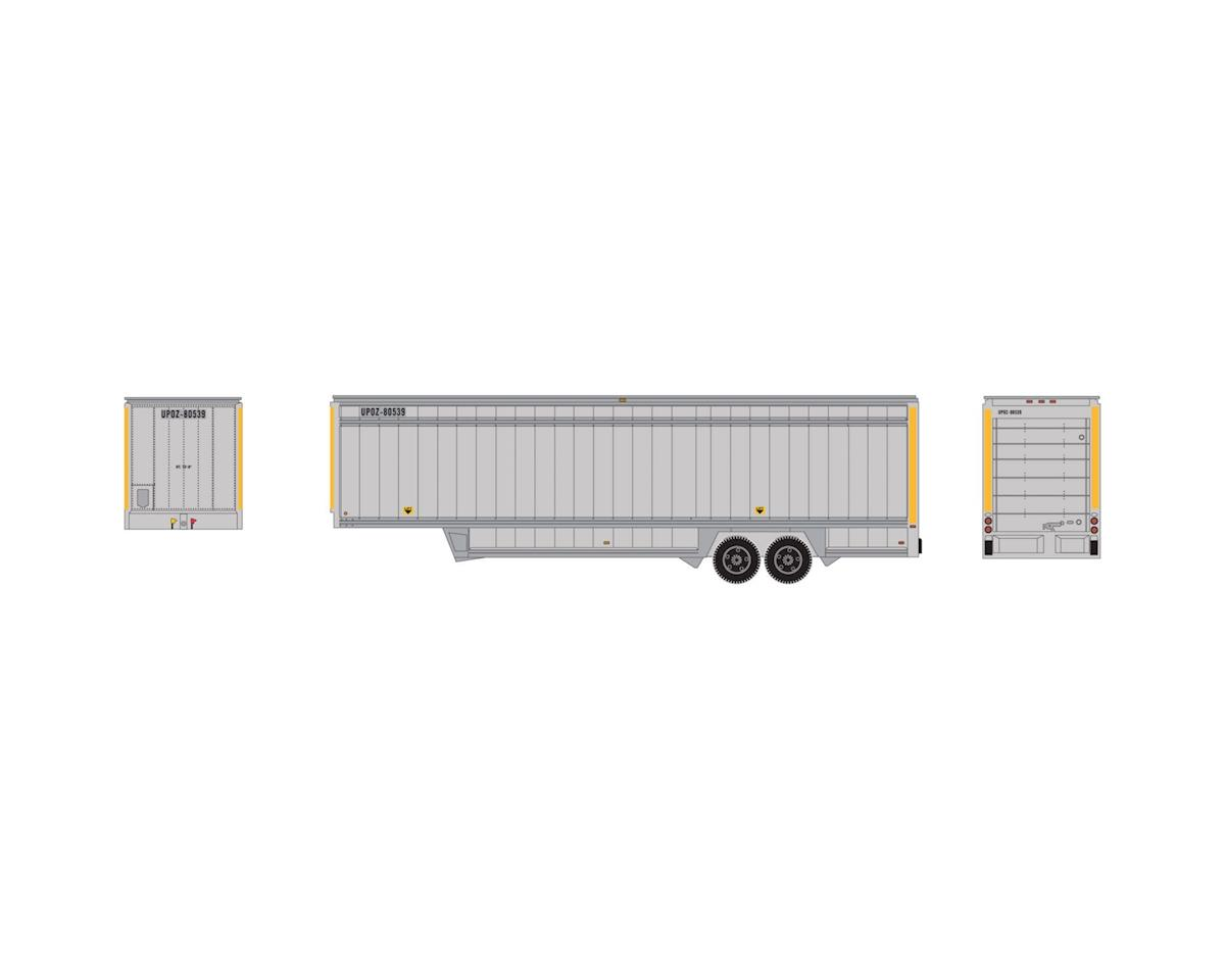 Athearn HO 40' Drop Sill Parcel Trailer,UPS/YellowStripe#2