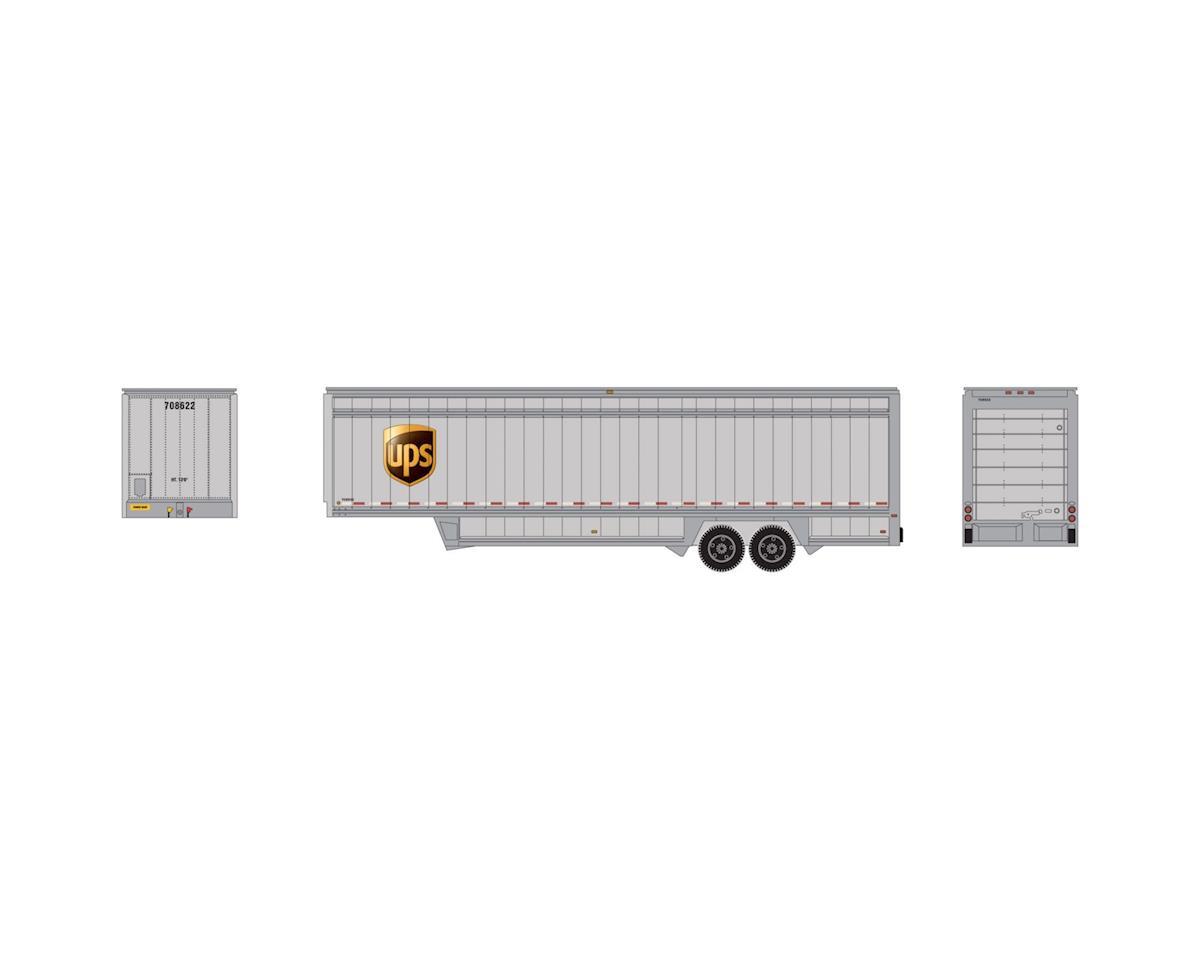 Athearn HO 40' Drop Sill Parcel Trailer, UPS/Logo #708622