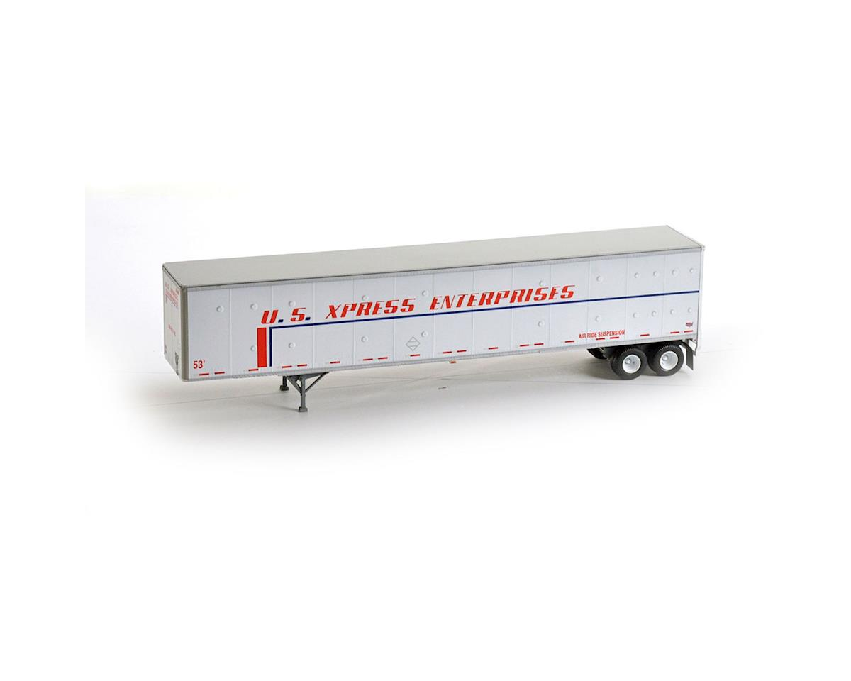 Athearn HO RTR 53' Duraplate Trailer, US Xpress #62492