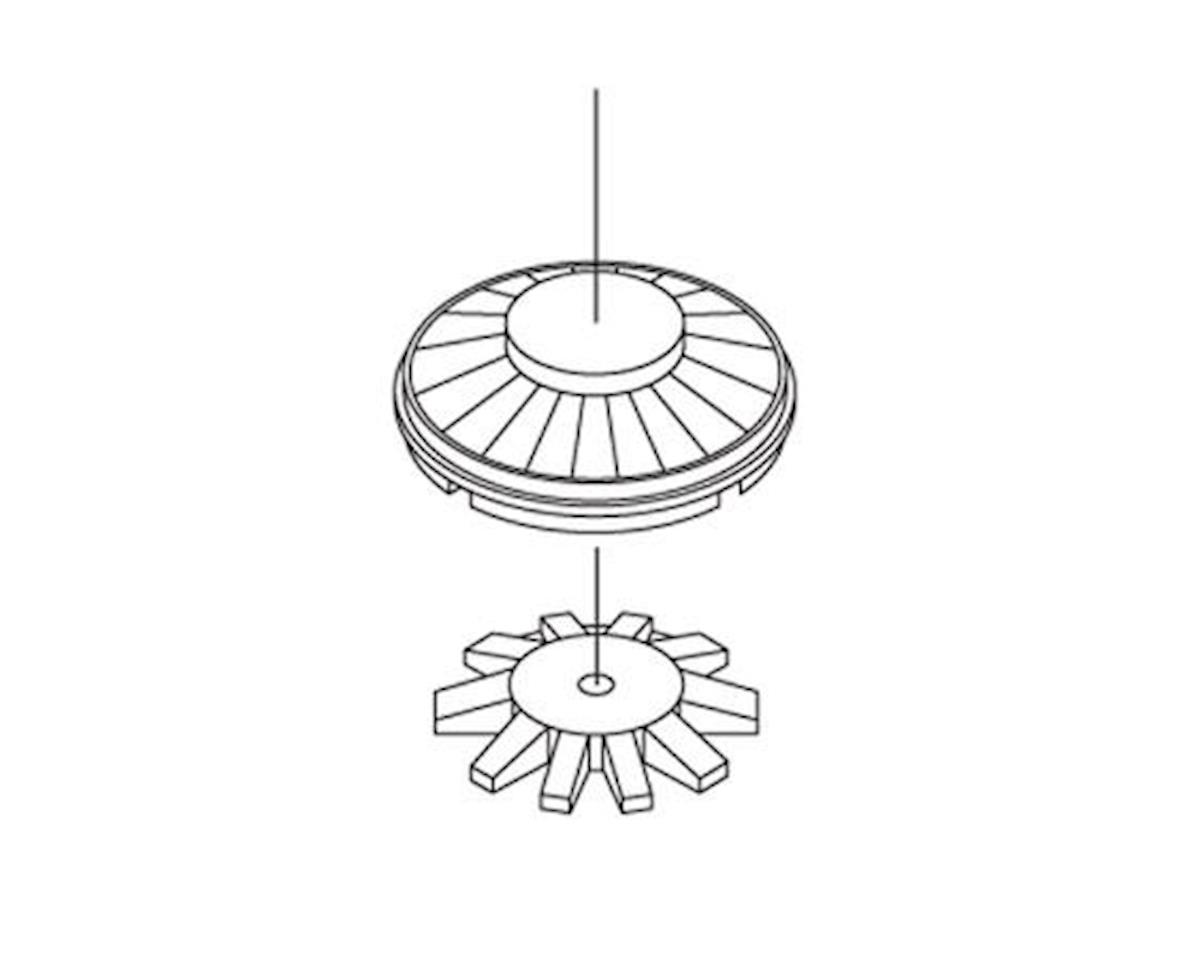 "HO Fans Set, 36"" Button Top/CF7 (3) by Athearn"
