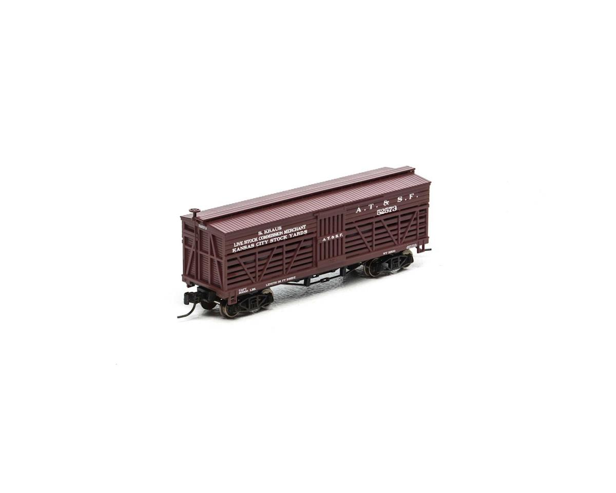 Athearn N 36' Old Time Stock Car, SF #52573