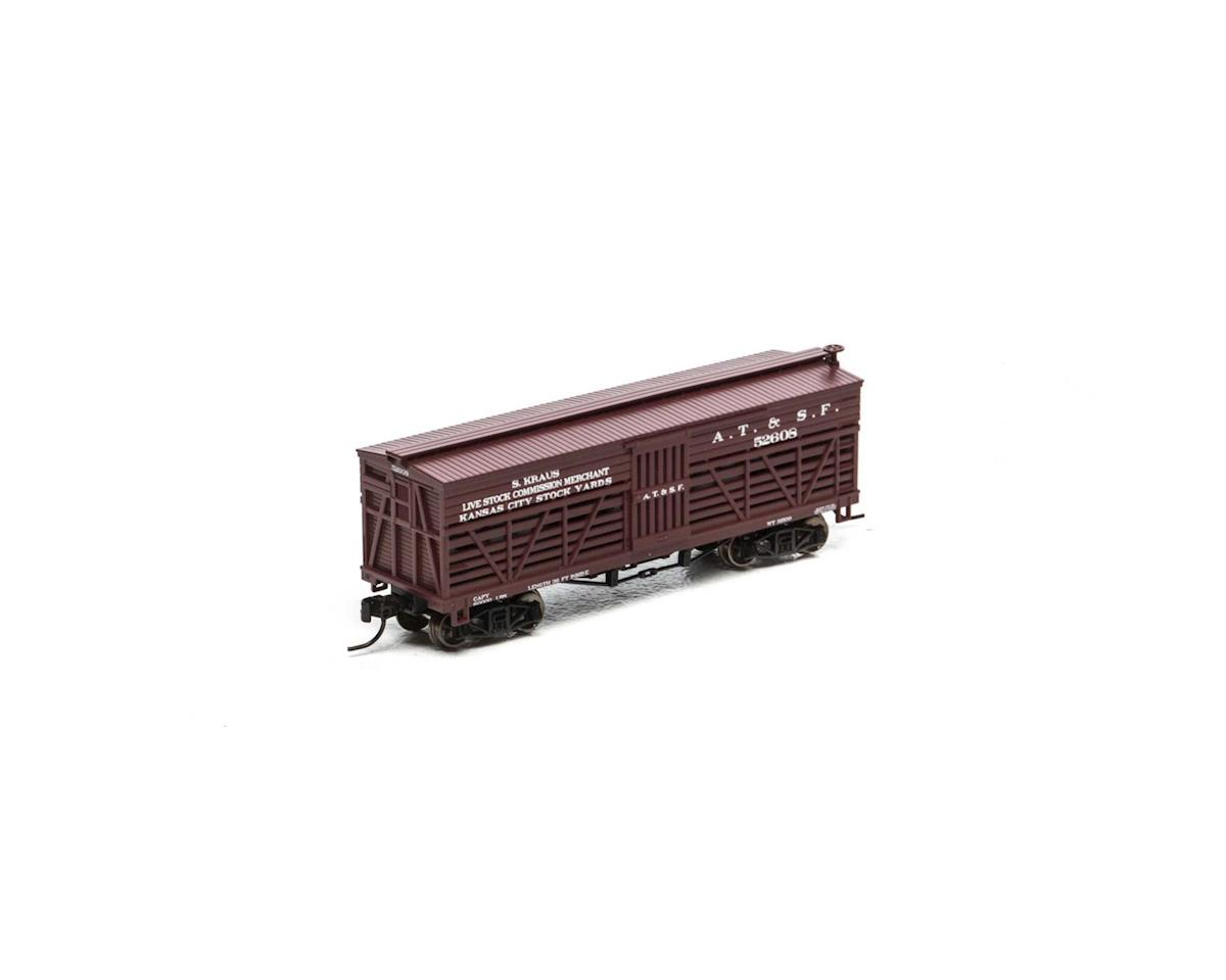 Athearn N 36' Old Time Stock Car, SF #52608