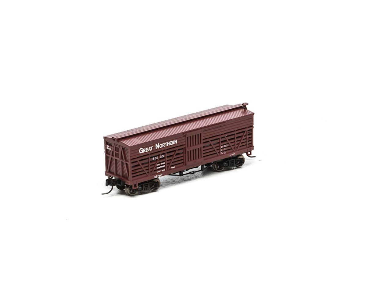 Athearn N 36' Old Time Stock Car, GN #58133