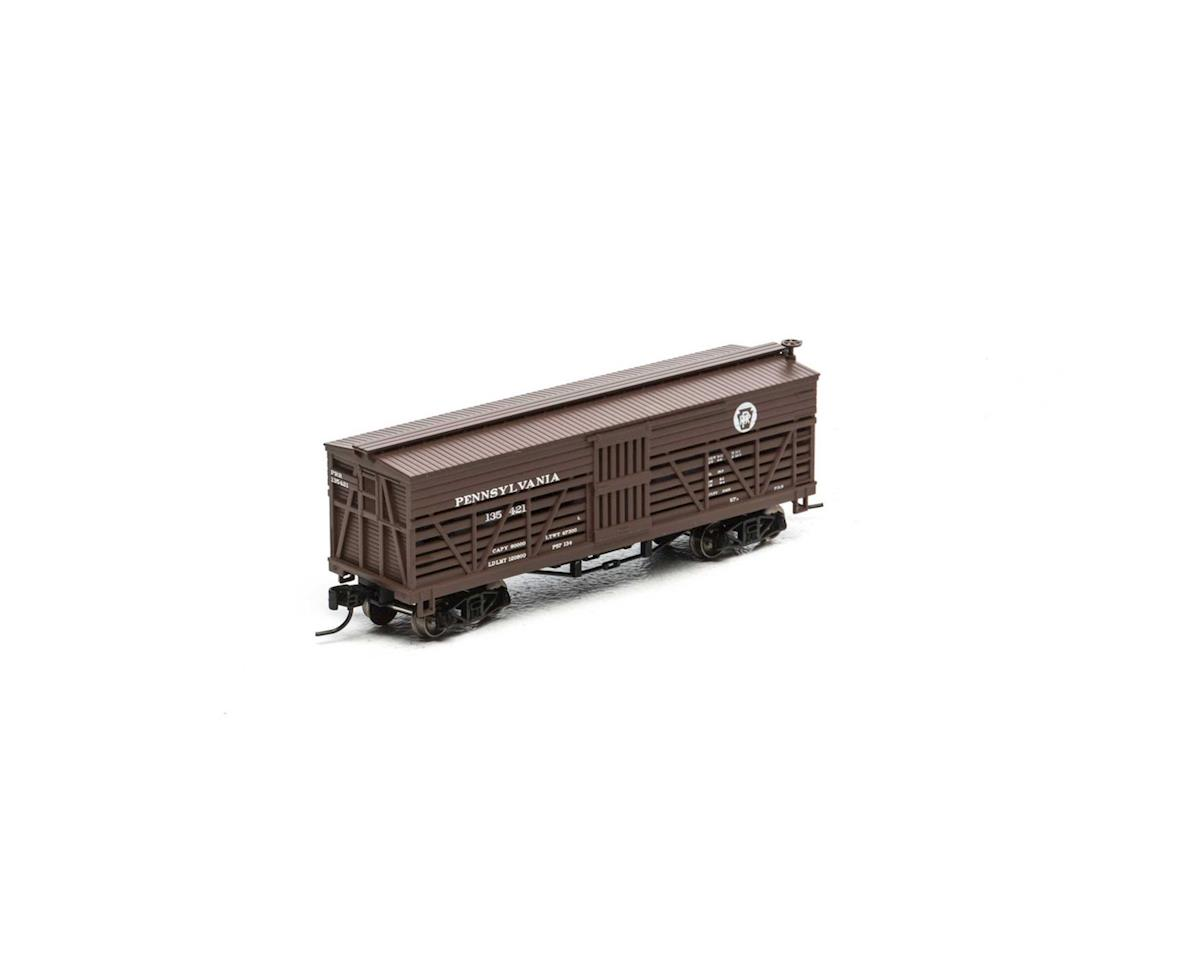 Athearn N 36' Old Time Stock Car, PRR #135421