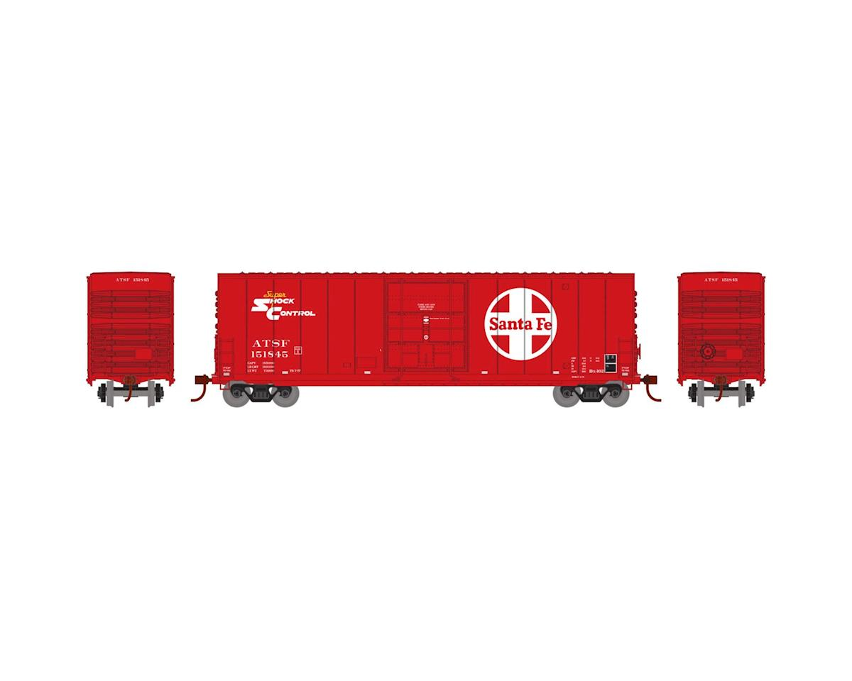 Athearn N 50' Smooth High Cube Plug Door Box, SF #151845