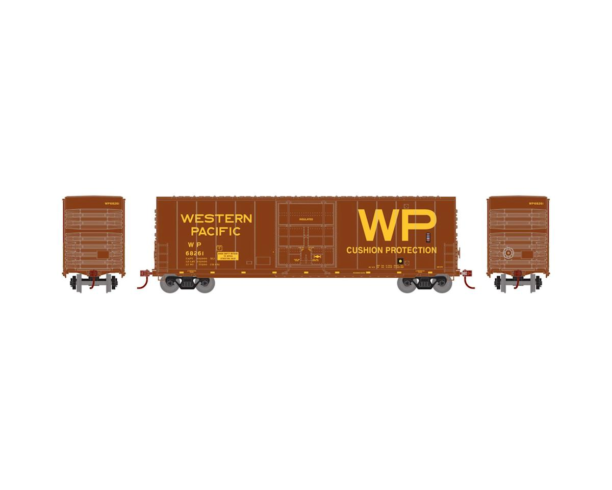 N 50' Smooth High Cube Plug Door Box, WP #68261 by Athearn
