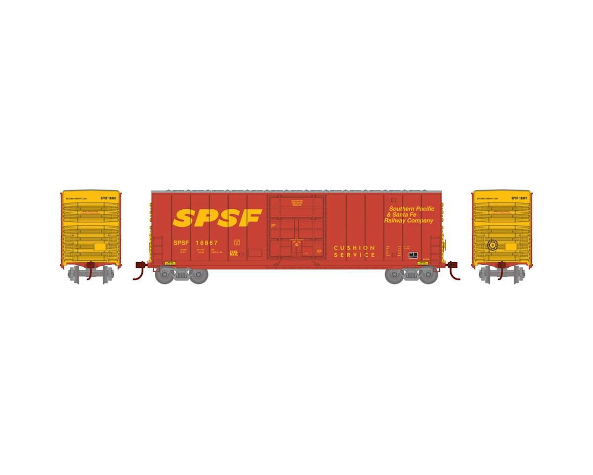 Athearn N 50' Smooth High Cube Plug Door Box, SPSF #16867