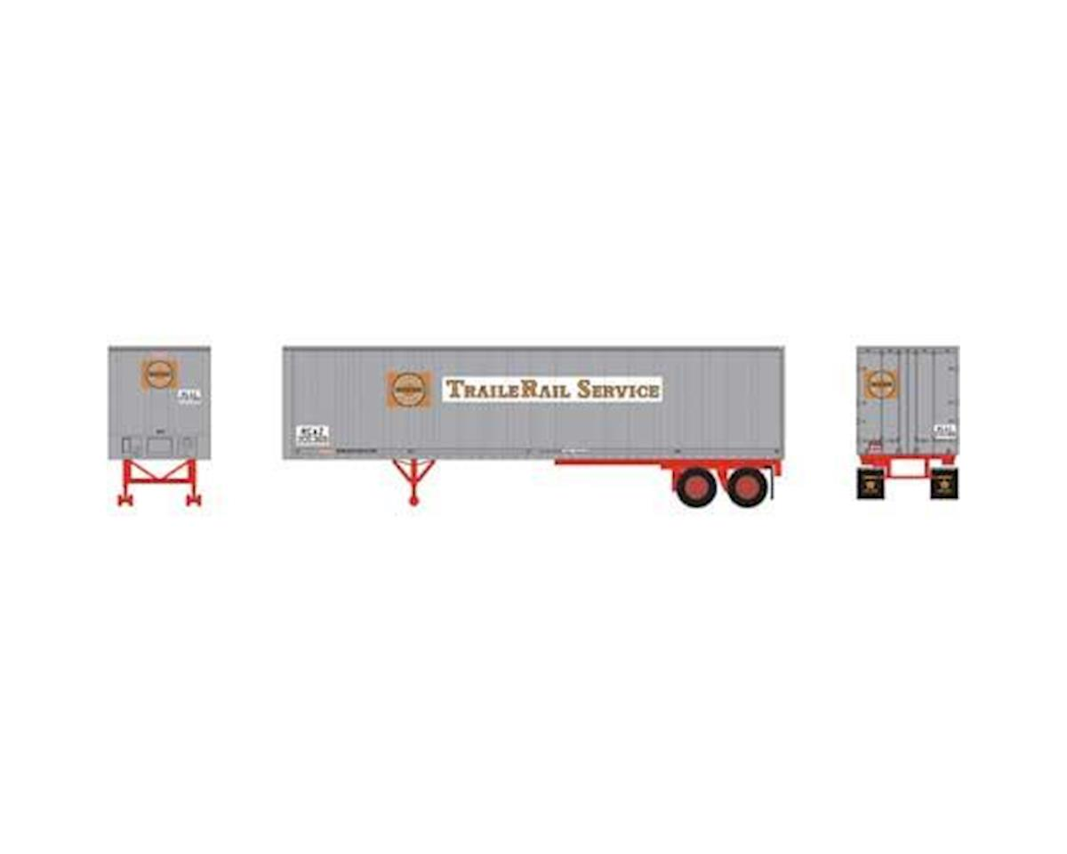 Athearn N 40' Fruehauf Z-Van Smooth Trailer,Clinchfield#1