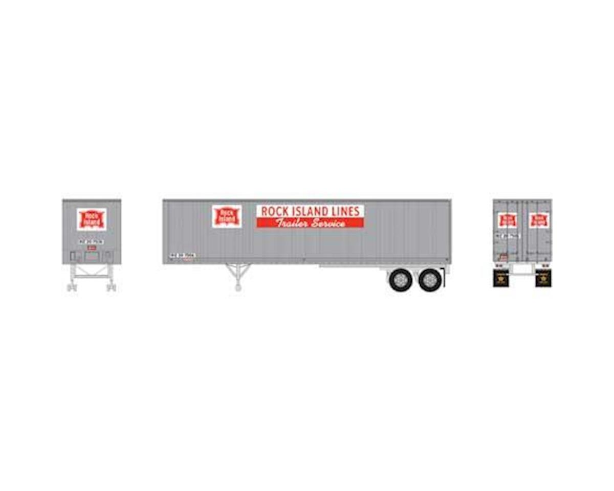 N 40' Fruehauf Z-Van Smooth Trailer, RI #20-7506 by Athearn