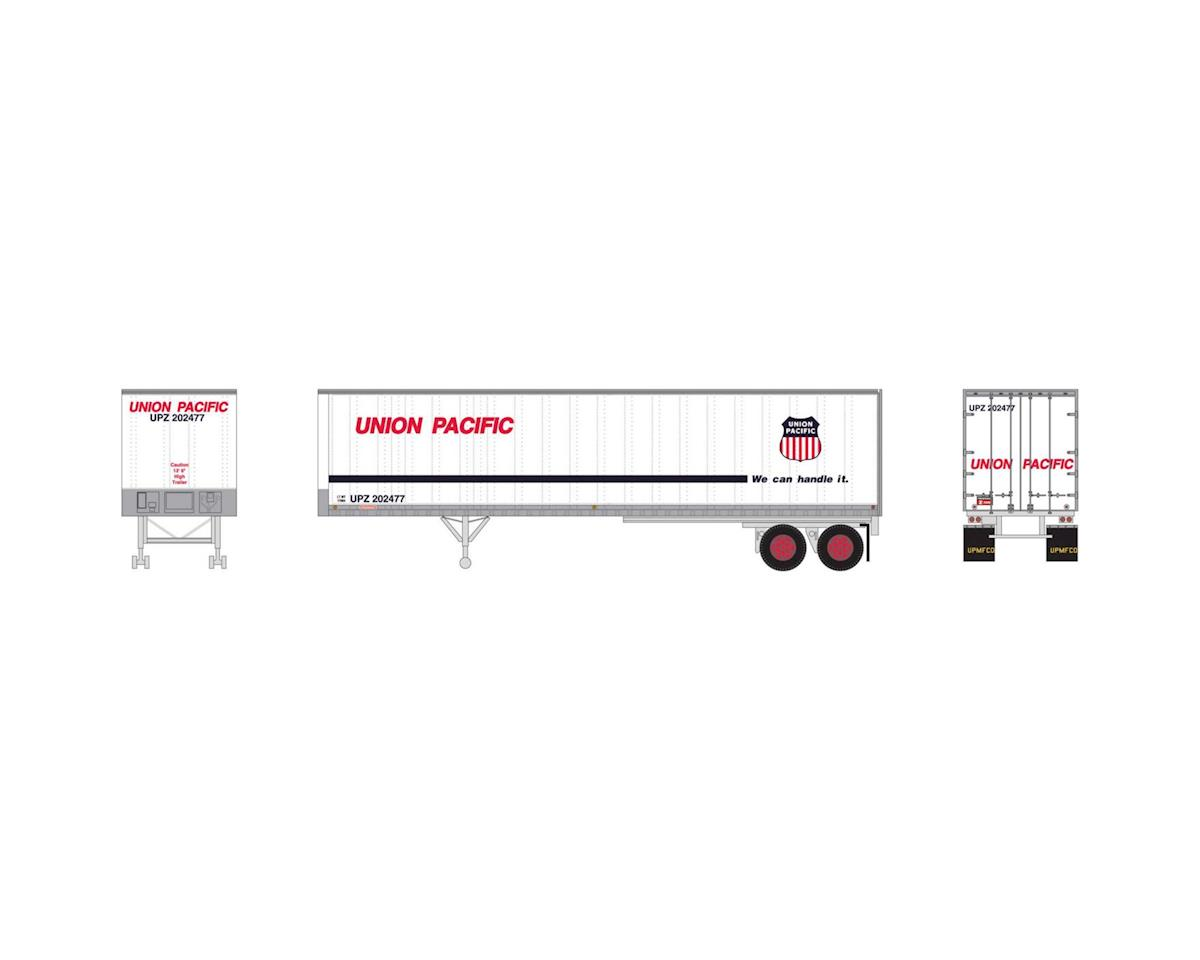 Athearn N 40' Fruehauf Z-Van Smooth Trailer, UP #202477