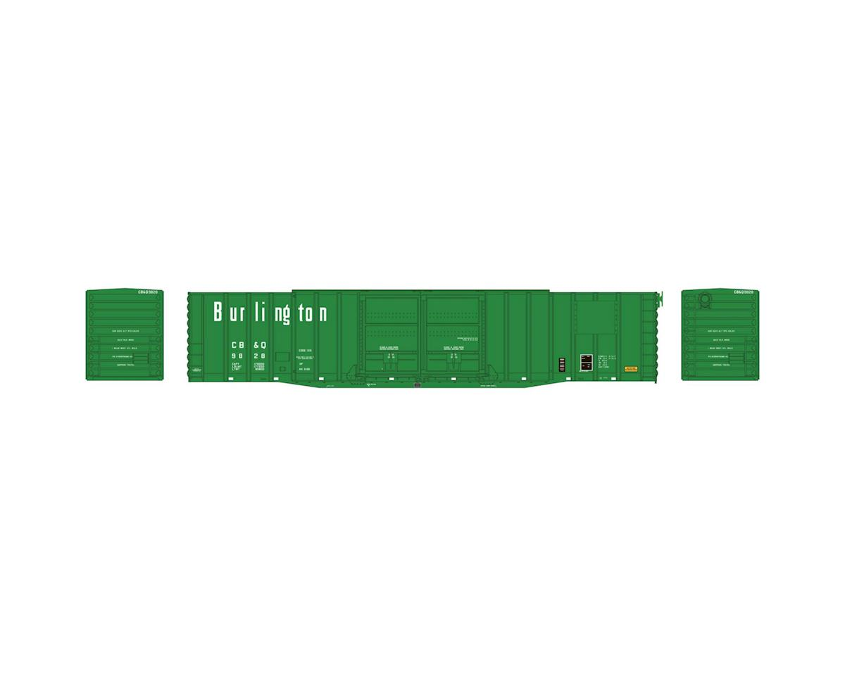 Athearn N 60' PS Auto Box, CB&Q #9828