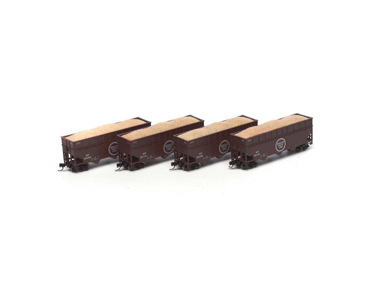 Athearn N 40' Wood Chip Hopper w/Load, MP #1 (4)