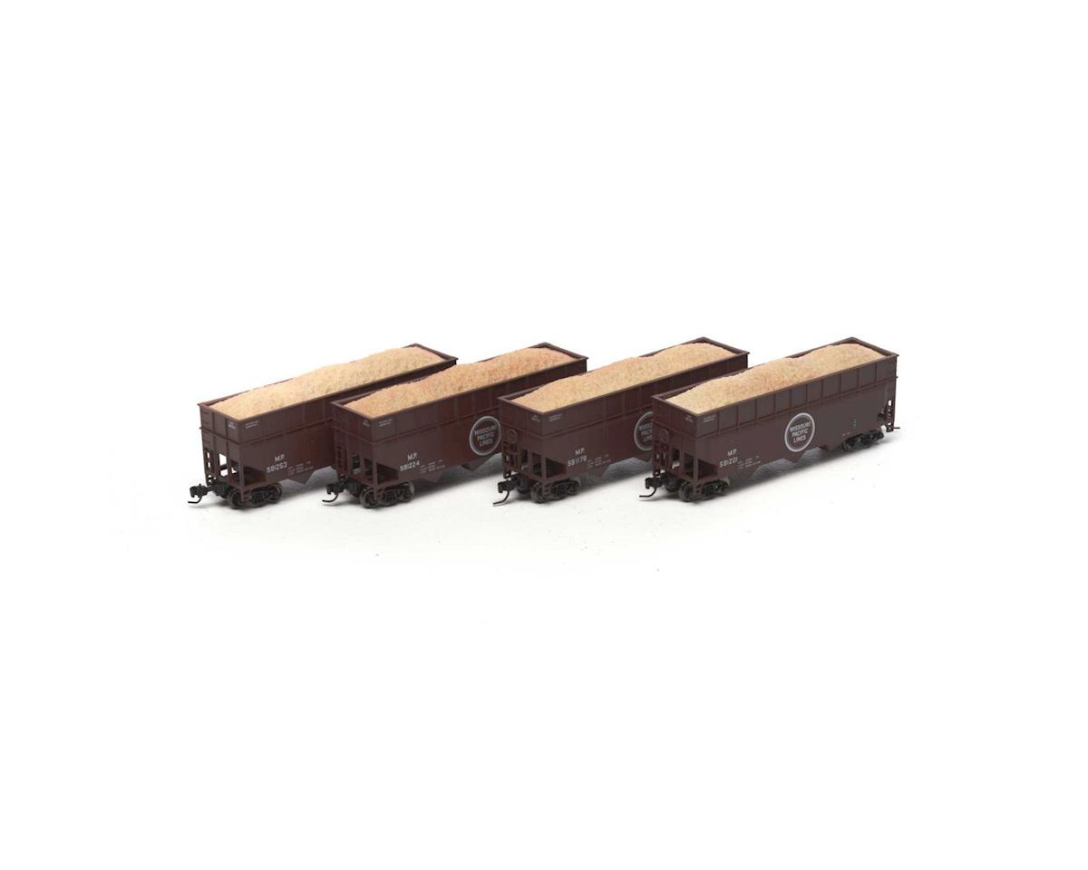 Athearn N 40' Wood Chip Hopper w/Load, MP #2 (4)