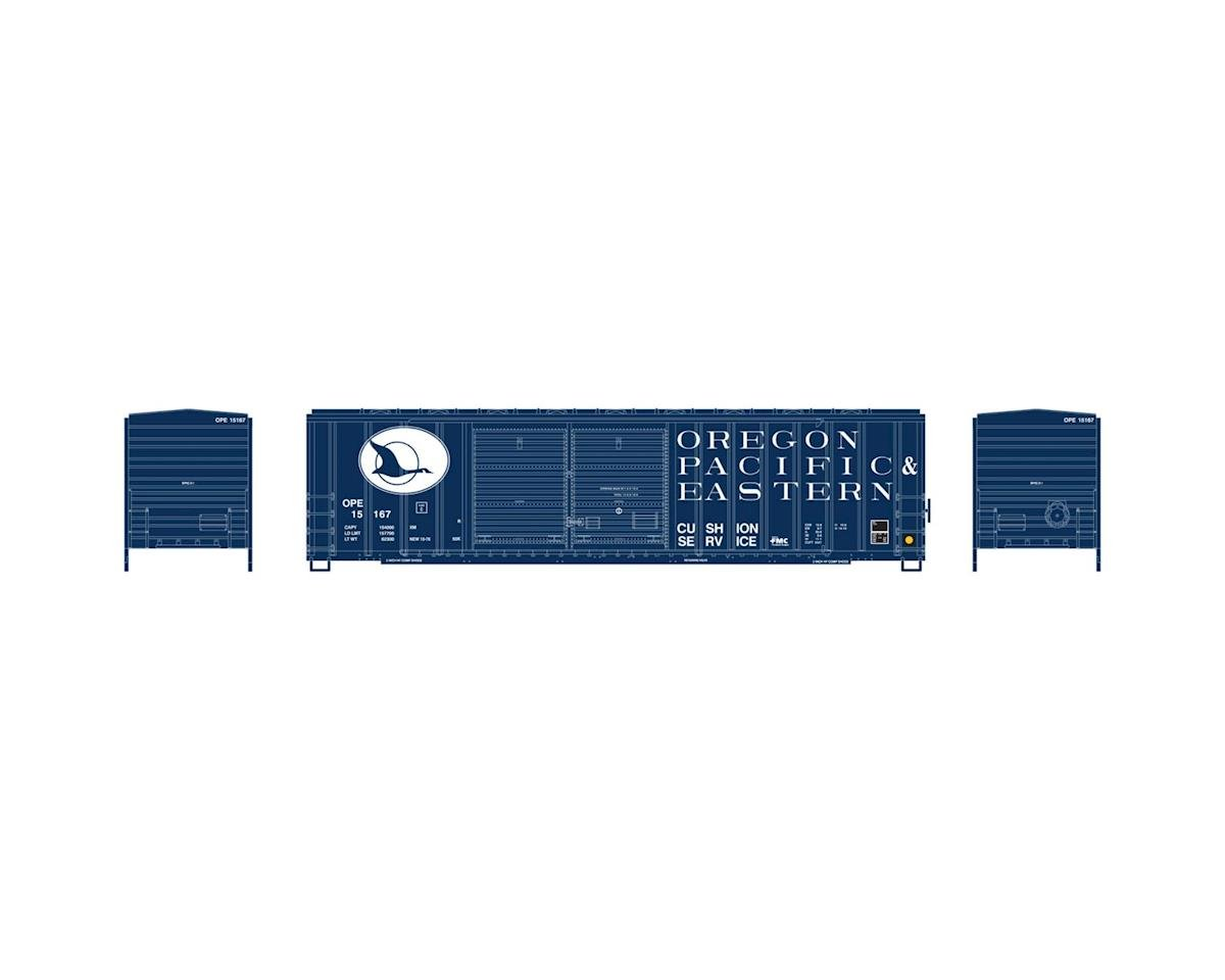 Athearn N 50' FMC Offset Double Door Box, OP&E #15167