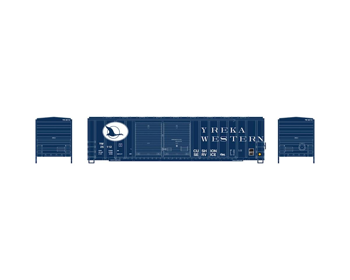 Athearn N 50' FMC Offset Double Door Box, YW #25112