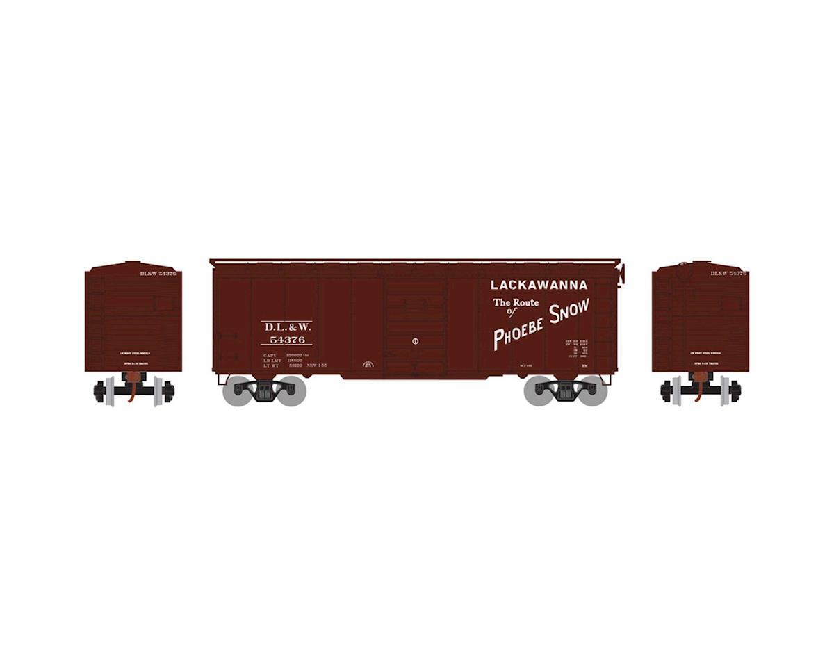 Athearn HO RTR 40' Superior Door Box, DL&W #54376